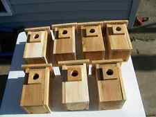 7 BLUEBIRD  BIRD HOUSES NEST BOX WITH TOP OPENING FREE S/H  HANDMADE IN USA