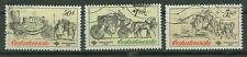 Tschechoslowakei Briefmarken 1981 Postkutschen Mi.Nr.2598+99+2601