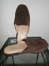 Samuel Windsor Handmade Brown Suede Leather House Shoes/ Slippers- Size 11 UK