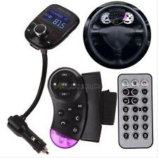 LCD Car Kit mp3 Player Bluetooth FM Transmitter Steering Wheel+Remote USB SD MMC