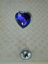 Heart Shaped Stand Memo Photo Wedding Magnet Holder With Tanzanite Gem Stone