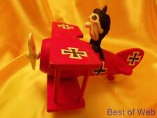 PERFECT 1968 SCHMID BROS PEANUTS RED BARRON (V. SNOOPY) MUSICAL WOODEN PLANE