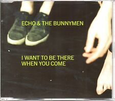 ECHO & THE BUNNYMEN - I WANT TO BE THEREWHEN YOU COME -3 TRACK CD SINGLE - MINT