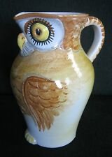 Italian hand-painted ceramic chicken jug, large and unique