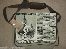 OLYMPIC GAMES LONDON 2012 CANVAS SHOULDER MESSENGER BAG OFFICIAL NEW UNISEX 1948