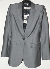 BURBERRY LONDON GREY CHAMBRAY JACKET BLAZER Sz. 4