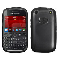 For BlackBerry Curve 9310 9320 TPU Gel GUMMY Hard Skin Case Cover Black Clear