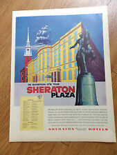1955 Sheraton Hotels Ad in Boston it's the Sheraton Plaza