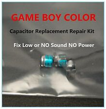 Game Boy Color Colour Capacitor Replacement Repair  Kit Fix Sound & No Power US