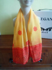 1 NEW FUNKY ORANGE AND RED Colourful Mixed Fibre Ladies Scarf ~ Gift Idea #51