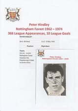 PETER HINDLEY NOTTINGHAM FOREST 1962-1974 ORIGINAL SIGNED ANNUAL PICTURE CUTTING
