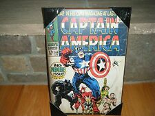 "VINTAGE 1968 CAPTAIN AMERICA MARVEL COMIC #100 COVER WOOD WALL PLAQUE 13"" X 19"""