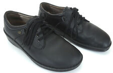 Finn Comfort 39 8 - 8.5 Vaasa Black Pebbled Leather Lace Up Oxford Shoes Germany