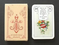Vtg J.M.C. Lenormand Red Owl Fortune Telling Oracle Cards Deck Gilded Corners