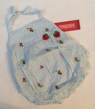 Gymboree Strawberry Farm Gingham Ruffle Bubble Romper Baby 3-6 Months NWT HTF