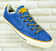 CONVERSE STAR PLAYER Mens Real Leather Blue Sneakers Trainers Shoes 10.5 UK 44.5