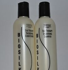 Biosilk Silk Therapy Smoothing Shampoo 11.6 Oz & Thickening Conditioner 11.6 Oz