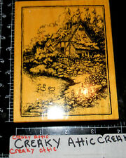 PSX ENGLISH COTTAGE RUBBER STAMPS RETIRED POND FLOWERS