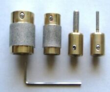 4 STAINED GLASS GRINDER BIT HEAD 4 INLAND OR GLASTAR TOP QUALITY BRASS 4 SIZES!