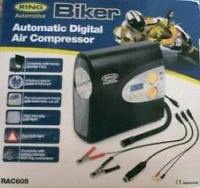 Ring Automotive Biker Automatic Digital Air Compressor RAC605 CE Approved