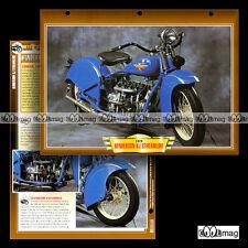 #102.06 Fiche Moto HENDERSON KJ 1300 STREAMLINE 1929 (1296 cc) Motorcycle Card