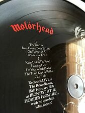 "Motorhead Picture Disc Whats words worth? Live 12"" LP 1984 RARE MINT OOP! Lemmy"