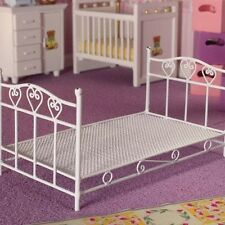 Dolls House Furniture:    Pretty Hearts Single Bed    in 12th scale
