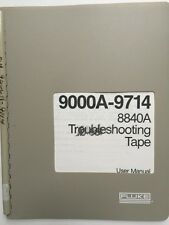 Fluke 9000A-9714 8840A Troubleshooting Tape User Manual P/N 745026 w/Schematics