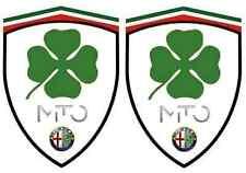 2 stickers adhésifs ALFA ROMEO MITO  Q4 (idéal pour aile avant)