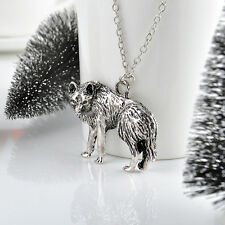 Hottest Charm Wolf Pendant Long Chain Vintage necklace Cool Occident Fashion