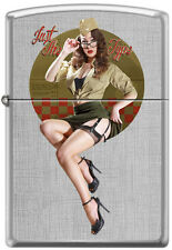 Zippo by Artist Michael Malak Pinup Just The Type Nose Art  Ltd Only 100