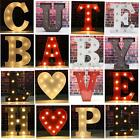 9'' Metal LED Marquee Letter Lights Vintage Circus Style Alphabet Symbol Sign