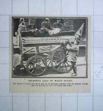 1917 The Holborn Council Cart Touring Borough Collecting Old Clothes