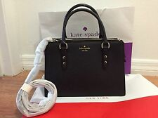 Kate Spade Mulberry Street Lise Black Leather Satchel NWT $359 WKRU4002