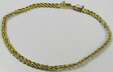 "14k Yellow Gold Jewelry Double Rope Chain Bracelet  7 5/8"" Length Pat. 4697315"