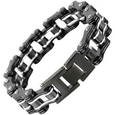 Fashion Bangle Moto Bike Chain Design Stainless Steel Men bracelet Rock Style
