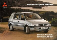 Mitsubishi Space Runner & Space Wagon 1996-98 UK Market Sales Brochure