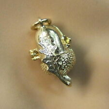 9ct gold new  sqirrel in acorn charm
