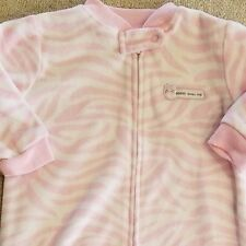 CARTER'S ONE SIZE FLEECE PINK STRIPED SLEEP BAG ADORABLE
