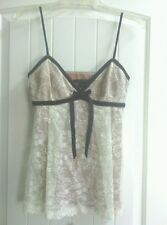 Robert Rodriguez Floral Lace and Silk Sleeveless Babydoll Top Tank - Size 4
