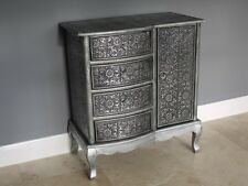 Embossed Sideboard Blackend Marrakesh embossed shabby chic Chest cupboard