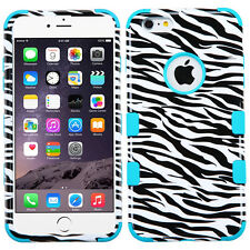 Hybrid Rubber Hard Skin TUFF Protective Tough Case Cover For Apple iPhone Phones