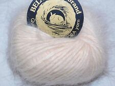 POWDER 10gr 33yd Galler BELANGOR 100% ANGORA Rabbit Fur XSOFT Luxurious Yarn
