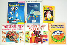 Bücherpaket: 6x Basteln mit Kindern/ Stiff, Trockenblumen/Fensterbäume/WindowCol