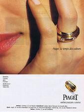 PUBLICITE ADVERTISING 084 1995 PIAGET l'Anneau dans l'Anneau