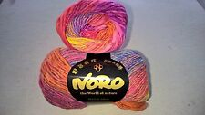 NORO Japan ~ KUREYON #102 Pinks, Orange, Purple, Blue Yarn ~ 100% WOOL
