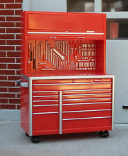 Snap On Tool Box Rare Style B Upright w Coasters 1/24 Scale Diorama Accessory