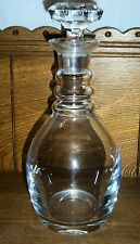 Quality Glass / Crystal Decanter - 1 Chips - Maker Unknown