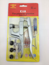 1 Set KAM Snap Pliers Kit For Size 16/20/24 Resin/Plastic Snaps Poppers Buttons