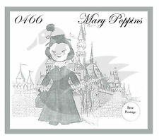 "Reproduction Vintage Walt Disney Mary Poppins 24"" Doll Sewing Pattern"